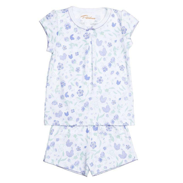 Short Sleeve Lavender Flower Pyjama Set