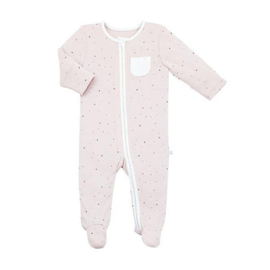 Baby Stardust Organic Zip-Up Sleepsuit