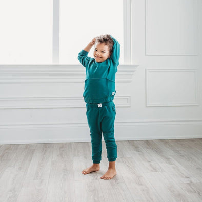 Kids Unisex Emerald Green Sweatpants