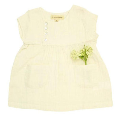 School Dress Vanilla Gauze