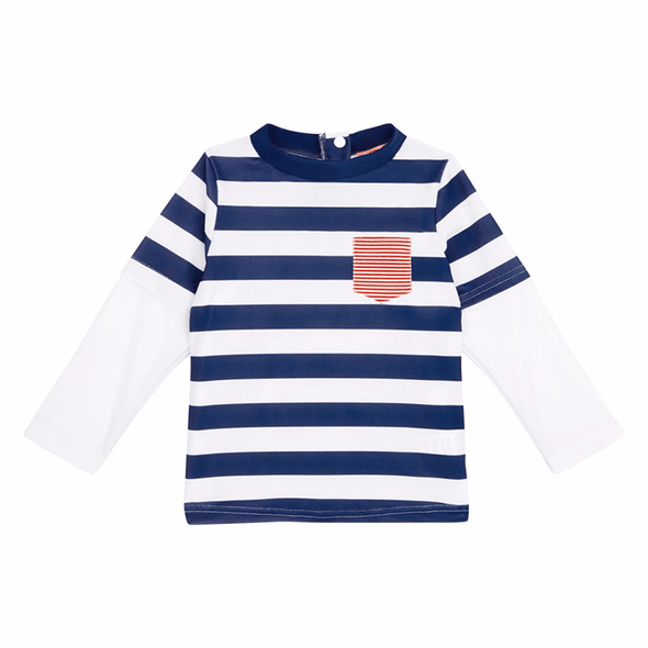 Baby Boys Double Sleeve Rash With Pocket