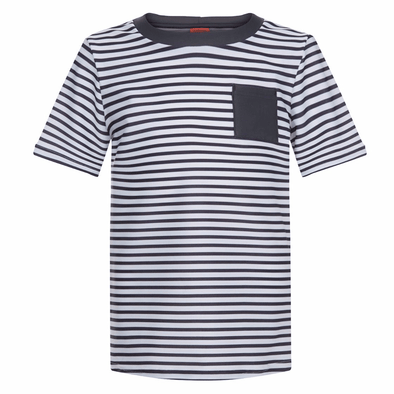 Boys Grey & White Stripe T-Shirt