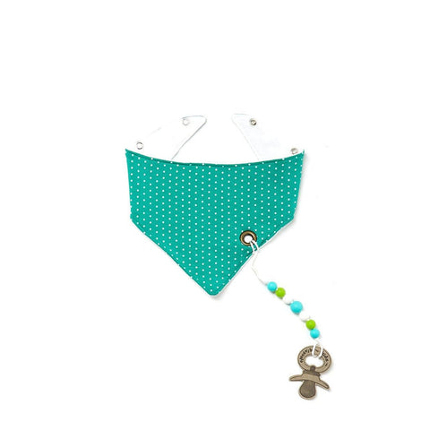 Turquoise Dot Banada with Teething String