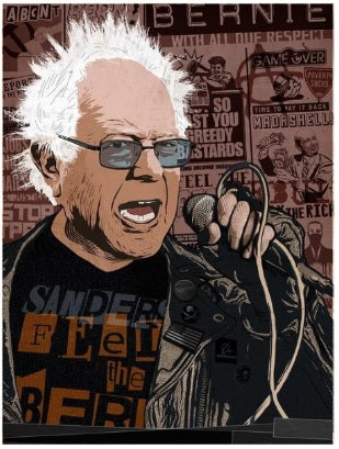 Bernie So Punk Poster