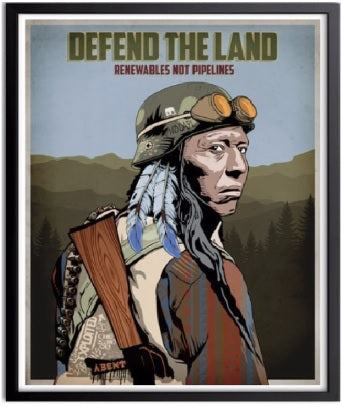 Defend The Land Poster
