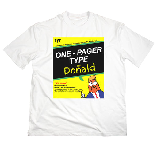 Trump One-Pager T-Shirt