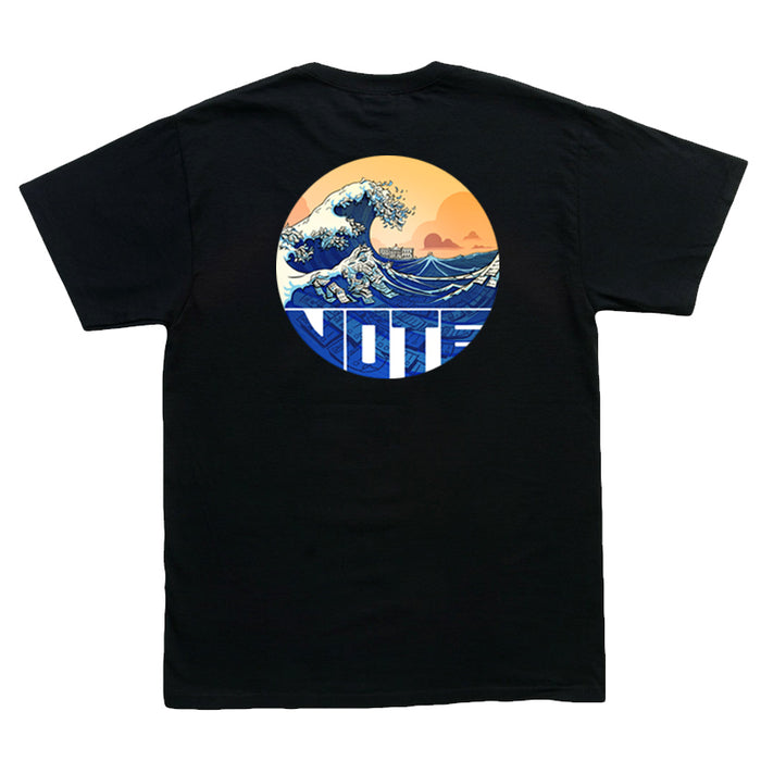 Blue-nami Pocket Print T-Shirt