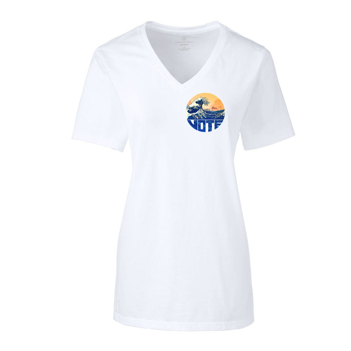 Blue-nami Pocket V-Neck Shirt - Women's