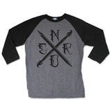 Art Nerd Arctic Grey / Black Raglan Shirt