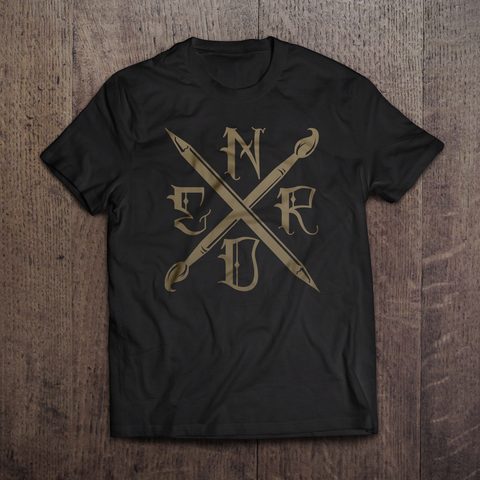 Art Nerd Gold Edition T-Shirt