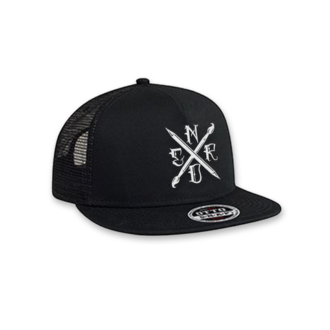 Art Nerd Trucker Hat - Black