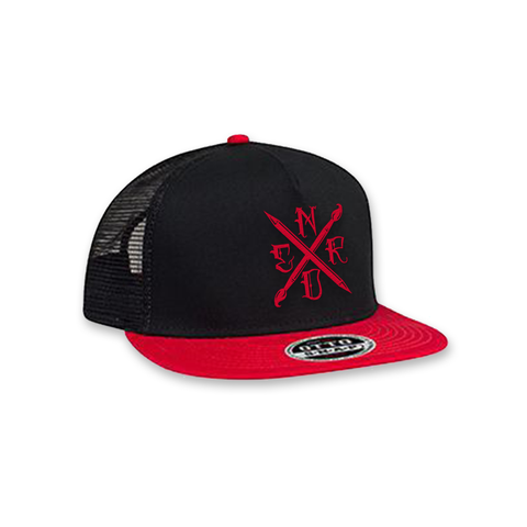 Art Nerd Trucker Hat - Red/Blk/Blk