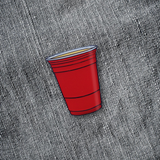 Party Cup Enamel Pin