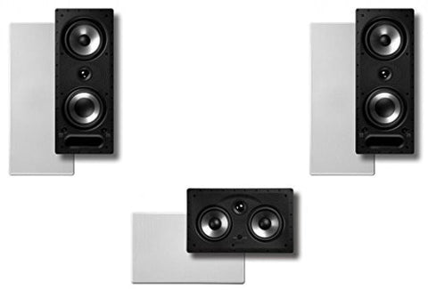 Polk Surround System: Pair of 265rt, One 255crt In-wall Front(bundle of 3 Speakers) - Super Electronics Warehouse