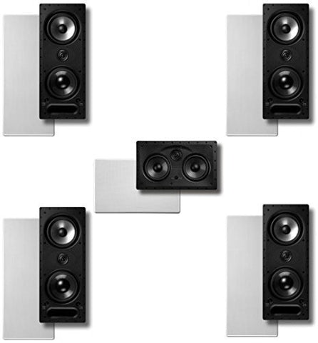 Polk Surround System:2 Pairs of 265ls, One 255cls In-wall Front(bundle of 5 Speakers) - Super Electronics Warehouse