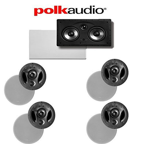 Polk Audio 700-LS + Polk Audio 255C-RT 5.0 Vanishing Series In-Ceiling / In-Wall Home Theater Speaker Package - Super Electronics Warehouse
