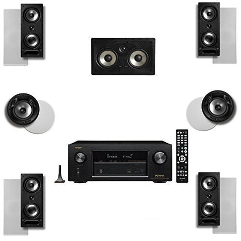 Polk Audio 265RT 7 Speaker System with 80FXRT and Denon AVRX2300W - Super Electronics Warehouse