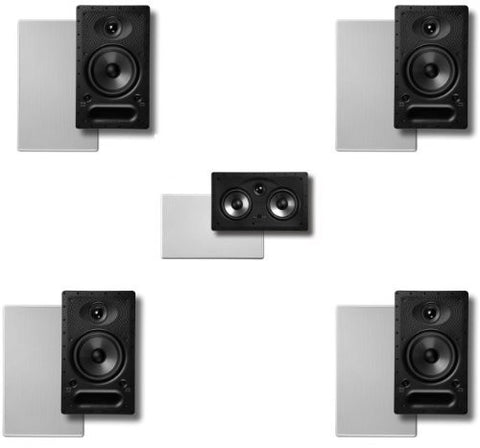 Polk In-wall Surround System: Pair of 65-rt, One 255c-rt, Pair 65-rt Rear - Super Electronics Warehouse