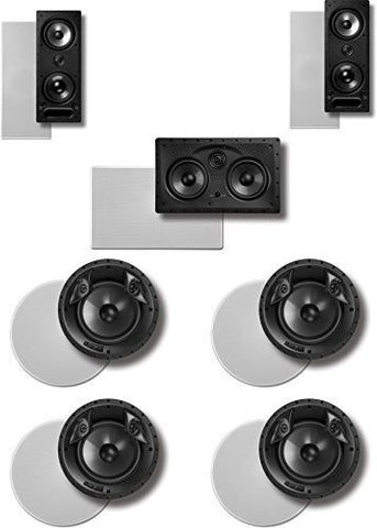 Polk 7.0 Surround System: Pair of 265rt, One 255crt In-wall Front, 2pairs 80F/Xrt (Bundle of 7 Speakers) In-ceiling Rear - Super Electronics Warehouse