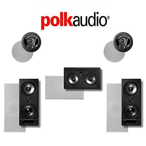 Polk Audio 265LS 5.0 Vanishing Series In-Wall / In-Ceiling Home Theater System (265-LS + 255C-RT + 90-RT) - Super Electronics Warehouse