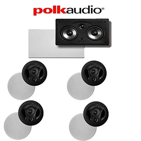 (4) Polk Audio 90-RT + (1) Polk Audio 255C-RT 5.0 High Performance In-Wall / In-Ceiling Home Theater System - Super Electronics Warehouse