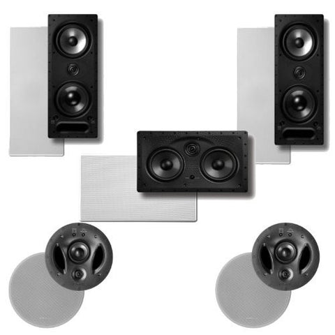 Polk Audio Surround System: Pair of 265-rt, 1 255c-rt In-wall, Pair of 90-rt - Super Electronics Warehouse