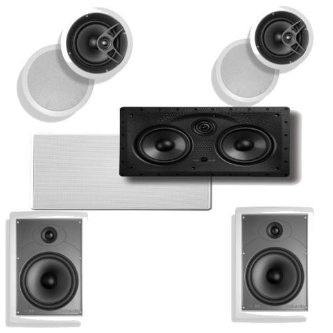 Polk Audio 255C-LS In-Wall Center Speaker Plus A Pair of Polk Audio MC80 In-Ceiling & Polk Audio MC85 In-Wall Speakers - Super Electronics Warehouse