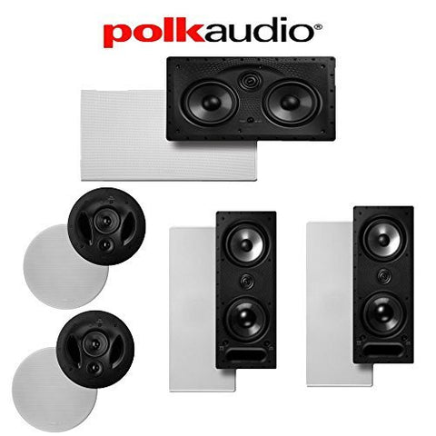 (2) Polk Audio 90-RT + (2) Polk Audio 265-LS + (1) Polk Audio 255C-LS 5.0 High Performance In-Wall / In-Ceiling Home Theater System - Super Electronics Warehouse