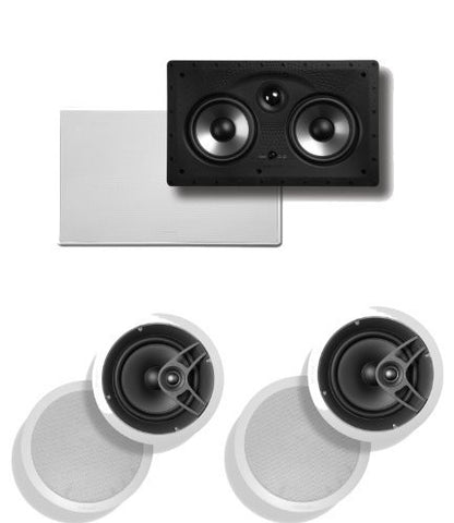 Polk Audio 255C-RT In-Wall Center Channel Speaker Plus (1) Pair of Polk Audio MC80 In-Ceiling Speakers - Super Electronics Warehouse