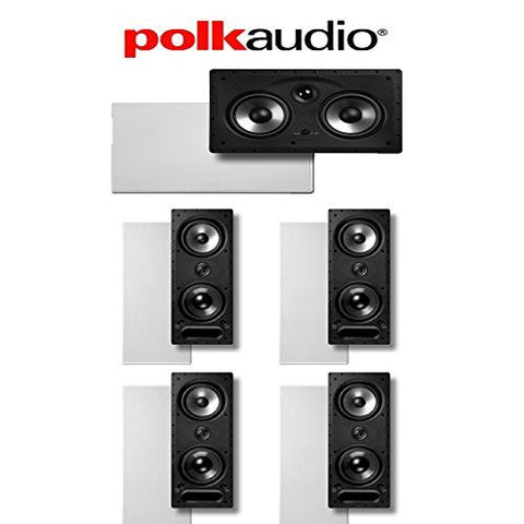 Polk Audio 265-LS and 255C-RT 5.0 Vanishing Series In-Wall Home Theater Speaker System - Super Electronics Warehouse