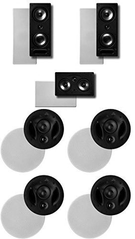 Polk Surround System1 Pair of 265ls, One 255cls In-wall Front, 2 Pairs of 700ls Rear(bundle of 7 Speakers) - Super Electronics Warehouse