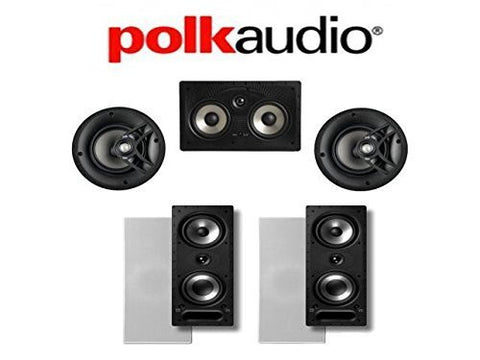 Polk Audio 265-RT #43; Polk Audio V60 #43; Polk Audio 255C-RT 5.0 Vanishing Series In-Wall \ In-Ceiling Home Theater System - Super Electronics Warehouse
