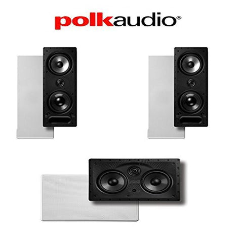 Polk Audio 265-LS + 255C-LS Vanishing Series 3.0 High Performance In-Wall Speaker System - Super Electronics Warehouse