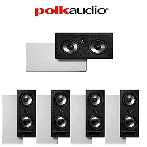 Polk Audio 265-RT + Polk Audio 255C-RT 5.0 Vanishing Series In-Wall Home Theater Speaker Package - Super Electronics Warehouse
