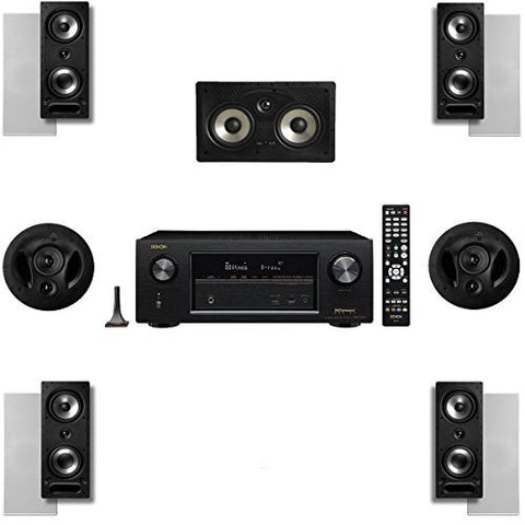 Polk Audio 2265RT 7 Channel Speaker Package with 90RT and Denon AVRX2300W AV Receiver - Super Electronics Warehouse