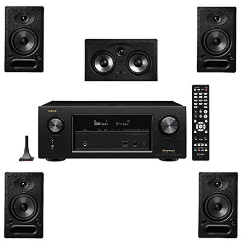 Polk Audio 65-RT 5 Channel Speaker Package and Denon AVR-X2300W AV Receiver - Super Electronics Warehouse