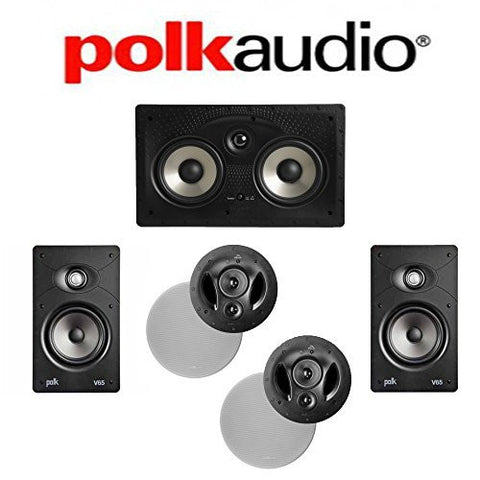 Polk Audio 90-RT + Polk Audio V65 + Polk Audio 255C-RT 5.0 Vanishing Series In-Wall / In-Ceiling Home Theater System - Super Electronics Warehouse