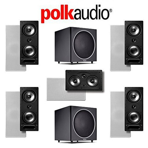 Polk Audio 265-RT 5.2 Vanishing Series In-Wall / In-Ceiling Home Theater System (265-RT + 255C-RT + PSW125) - Super Electronics Warehouse