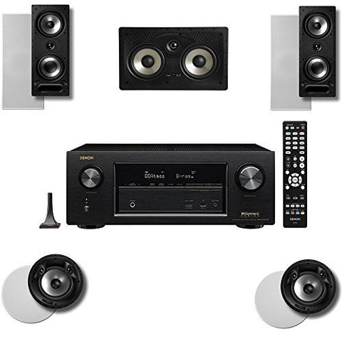 Polk Audio 265RT 5 Speaker System with 80FXRT and Denon AVRX2300W - Super Electronics Warehouse