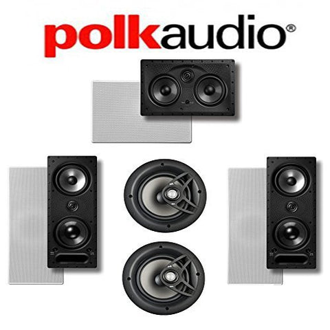 Polk Audio 265-LS + Polk Audio V80 + Polk Audio 255C-LS 5.0 Vanishing Series In-Wall / In-Ceiling Home Theater System - Super Electronics Warehouse