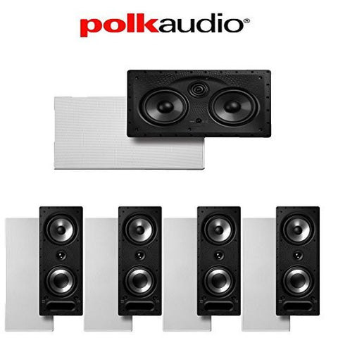 Polk Audio 265-RT + Polk Audio 255C-LS 5.0 Vanishing Series In-Wall Home Theater Speaker Package - Super Electronics Warehouse