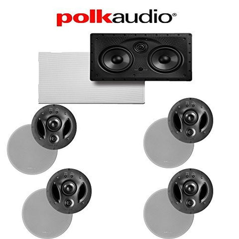 Polk Audio 700-LS + Polk Audio 255C-LS 5.0 Vanishing Series In-Ceiling / In-Wall Home Theater Speaker Package - Super Electronics Warehouse