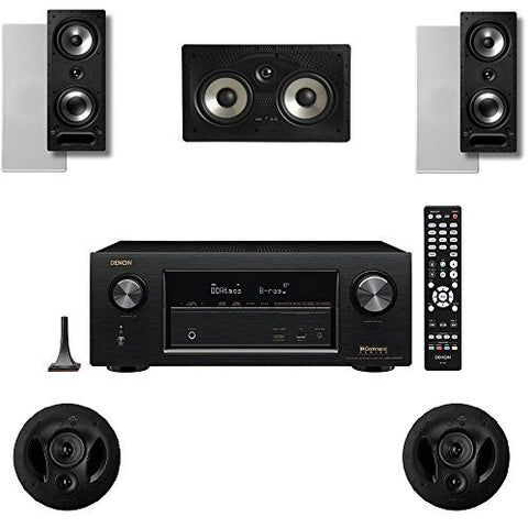 Polk Audio 2265RT 5 Channel Speaker Package with 90RT and Denon AVRX2300W AV Receiver - Super Electronics Warehouse