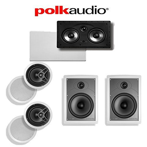 Polk Audio MC80 5.0 In-Wall / In-Ceiling Home Theater Speaker System (MC80 + MC85 + 255C-RT)