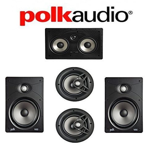 Polk Audio V85 Vanishing Series 5.0 In-Wall / In-Ceiling Home Theater System (V85 + V80 + 255C-RT) - Super Electronics Warehouse