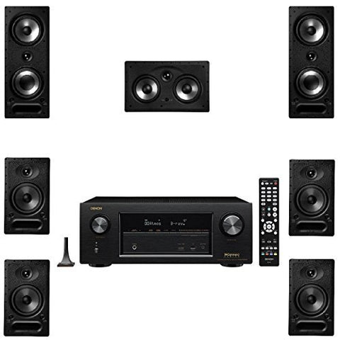 Polk Audio 265RT 7 Channel Speaker Package with 65RT and Denon AVRX2300W AV Receiver - Super Electronics Warehouse