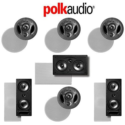 Polk Audio 700-LS 7.0-Ch Vanishing LS Series In-Wall / In-Ceiling Home Speaker System (700-LS + 265-RT + 255C-RT) - Super Electronics Warehouse