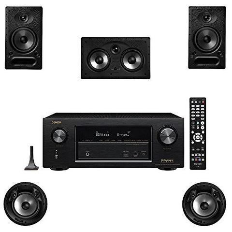 Polk Audio 65-RT 5 Channel Speaker Package with 80F/X-RT and Denon AVR-X2300W AV Receiver - Super Electronics Warehouse