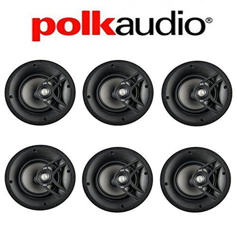Polk Audio V60 High Performance Vanishing In-Ceiling Speakers (6 Pack) - Super Electronics Warehouse