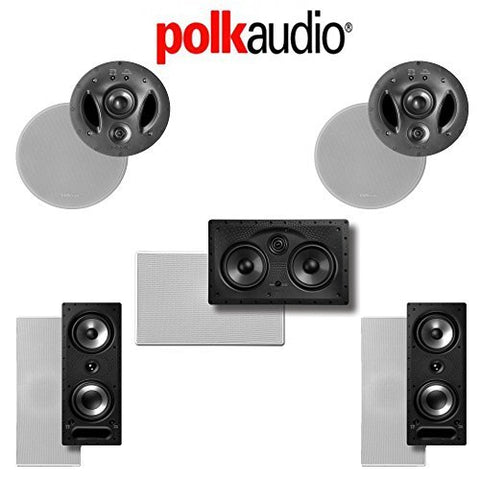 Polk Audio 700-LS 5.0-Ch Vanishing LS Series In-Wall / In-Ceiling Home Speaker System (700-LS + 255C-LS + 265-RT) - Super Electronics Warehouse
